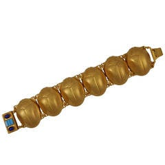 Askew London 'Egyptian Revival' Bulbous Scarab Link Bracelet