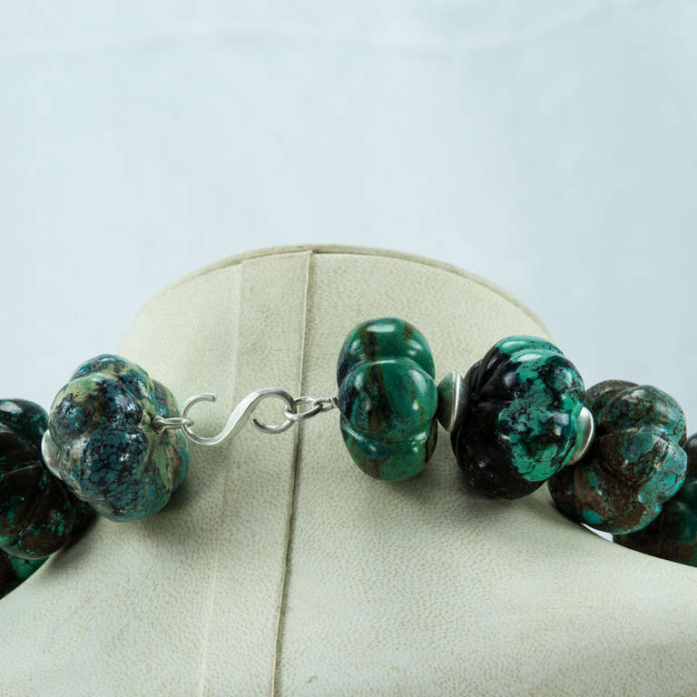 Stunning Turquoise and Sterling Silver Statement Choker Necklace 4