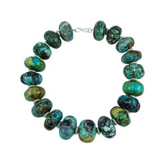 Stunning Turquoise and Sterling Silver Statement Choker Necklace