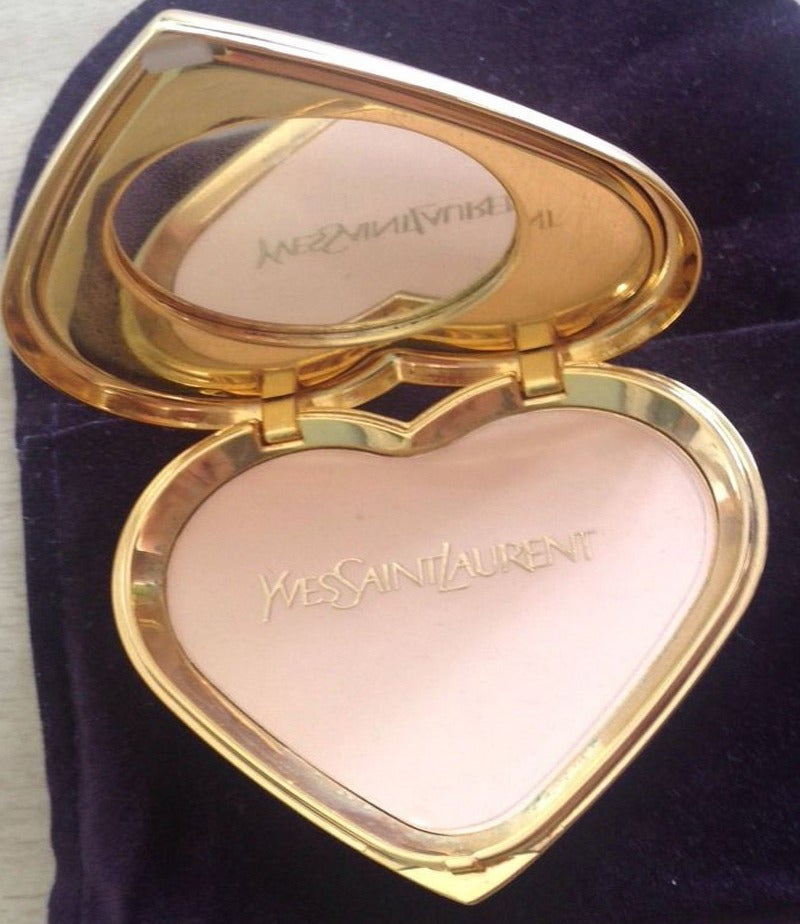 Yves Saint Laurent Paris Poudre Ecrin Crystal Heart Jeweled Compact  YSL 2