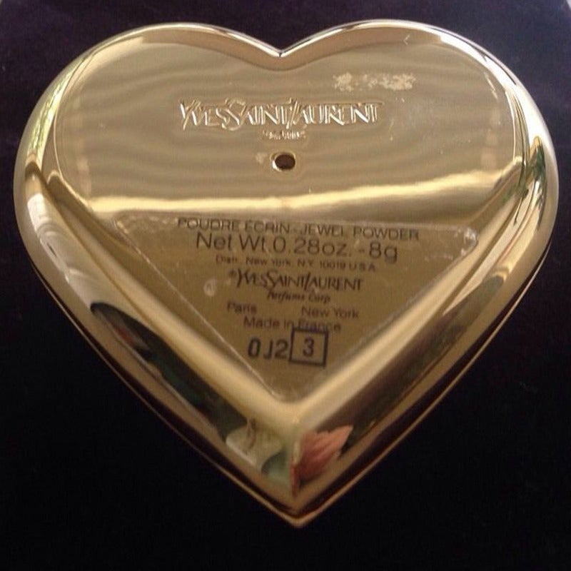 Yves Saint Laurent Paris Poudre Ecrin Crystal Heart Jeweled Compact  YSL 3