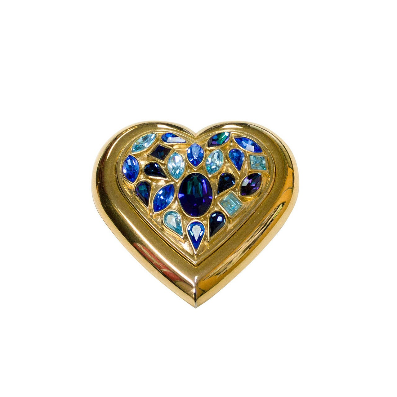 Saint Laurent Paris Poudre Ecrin Crystal Heart Jeweled Compact Ysl Ex0Yw7oQ