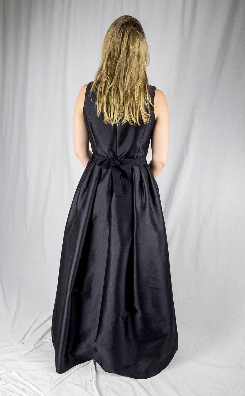 Wayne Clark Black Gold Belted Gown For Sale 2