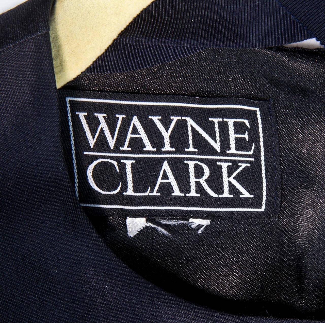 Wayne Clark Black Gold Belted Gown For Sale 4
