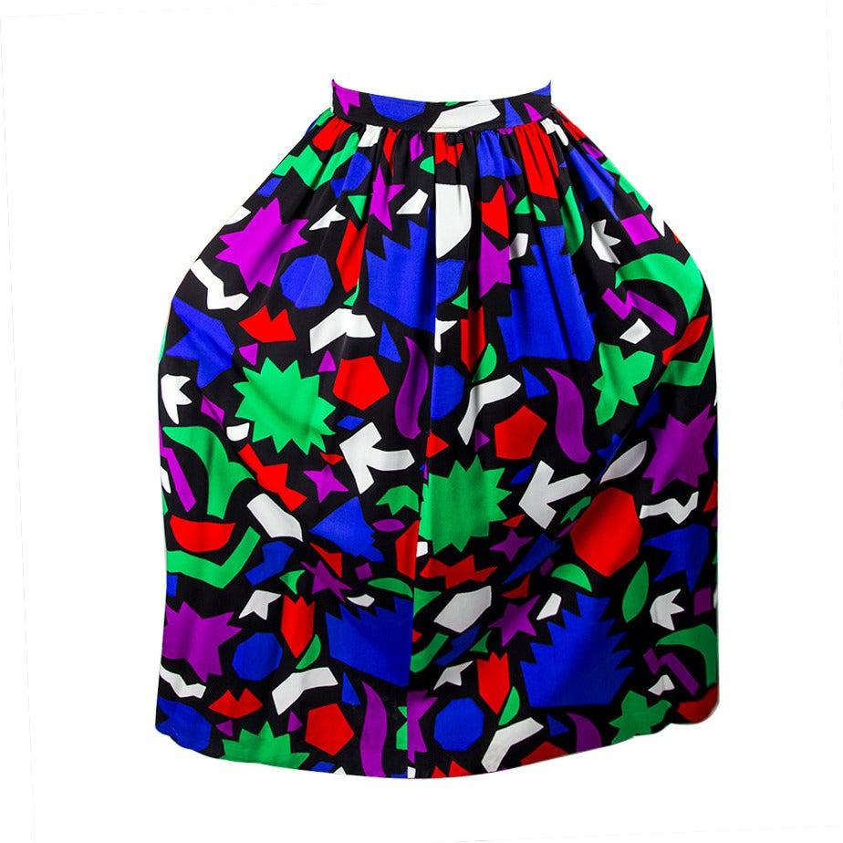 Vintage Yves Saint Laurent Rive Gauche Long Skirt Paris France