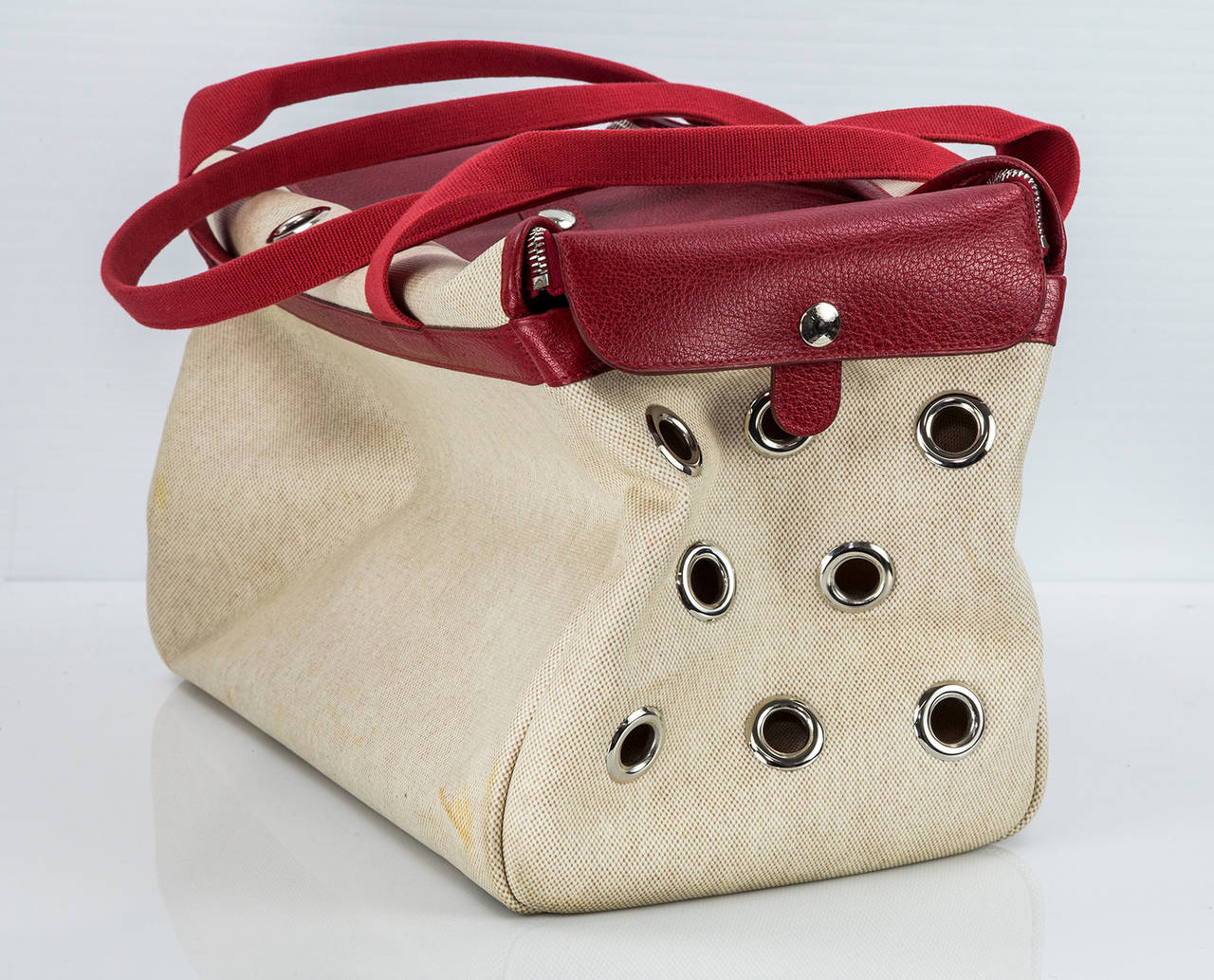 Women's or Men's HERMES Paris Pet Dog Carrier Bag Case Sac De Transporte