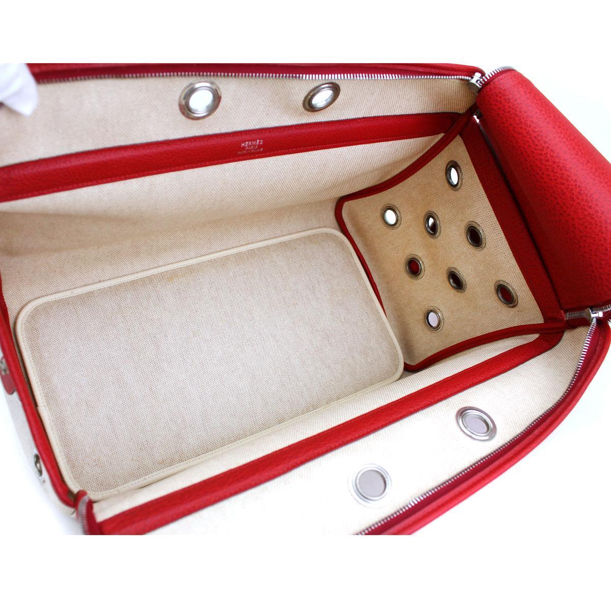 HERMES Paris Pet Dog Carrier Bag Case Sac De Transporte 2