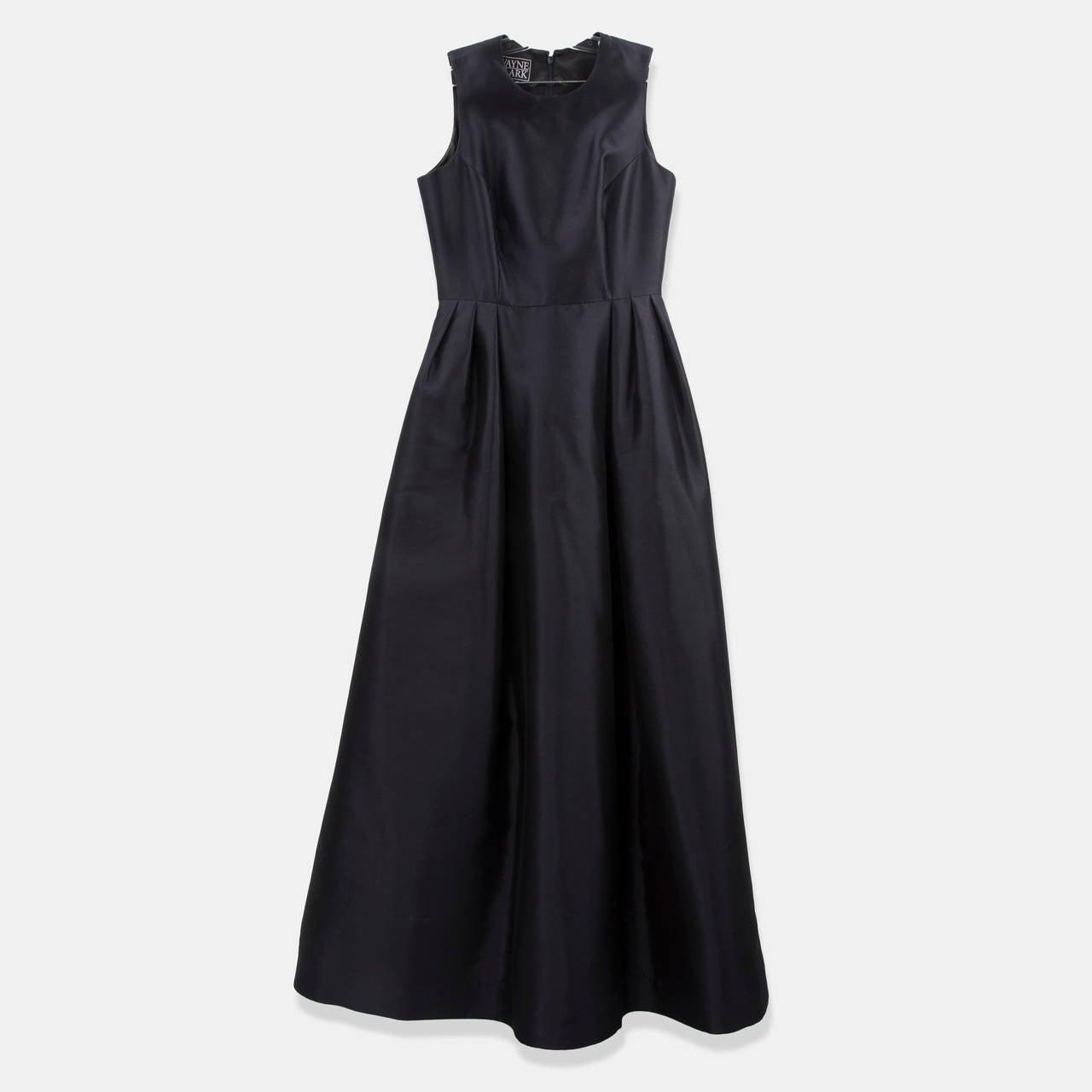 Wayne Clark Black Gold Belted Gown For Sale 1