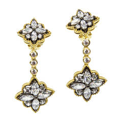 Sparkling CZ Encrusted Sterling Silver Dangle Earrings