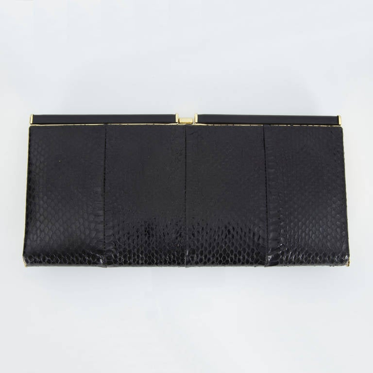 Extraordinary Vanentino Garavani Haute Couture Lizard Jewel Clutch Bag For Sale 3