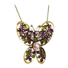 Designer Alice Caviness Butterfly Pin Necklace