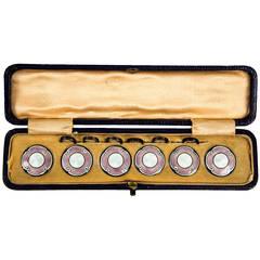 Art Deco Waistcoat or Vest Enamel Buttons C1920s