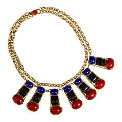 Askew London Multi Stone Collar Necklace