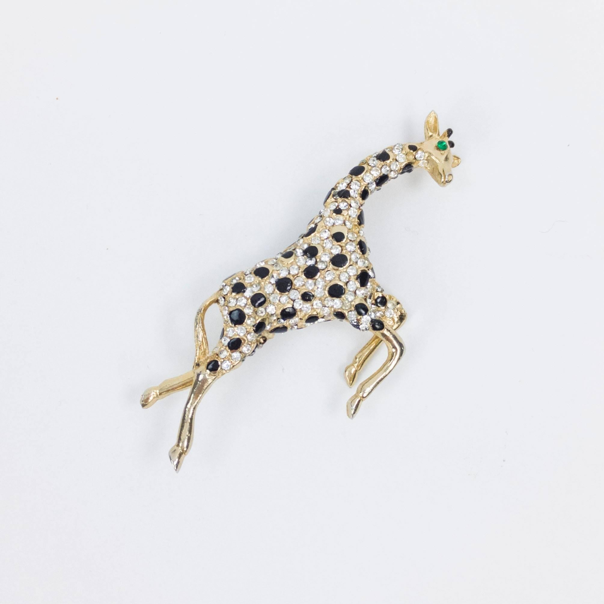 pin gold fashion enamel jewelry pins color rhinestone brooches animal women broches deer office brooch ladies