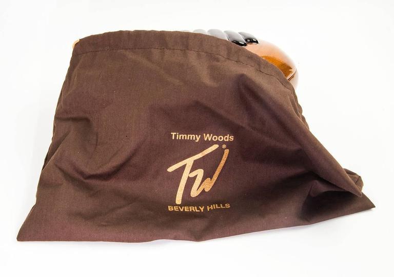 Timmy Woods of Beverly Hills Acacia Wood Handbag Purse ...