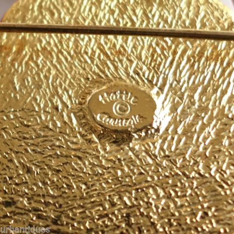Women's or Men's Egyptian Revival Enamel Scarab Hattie Carnegie Pendant Brooch Pin For Sale