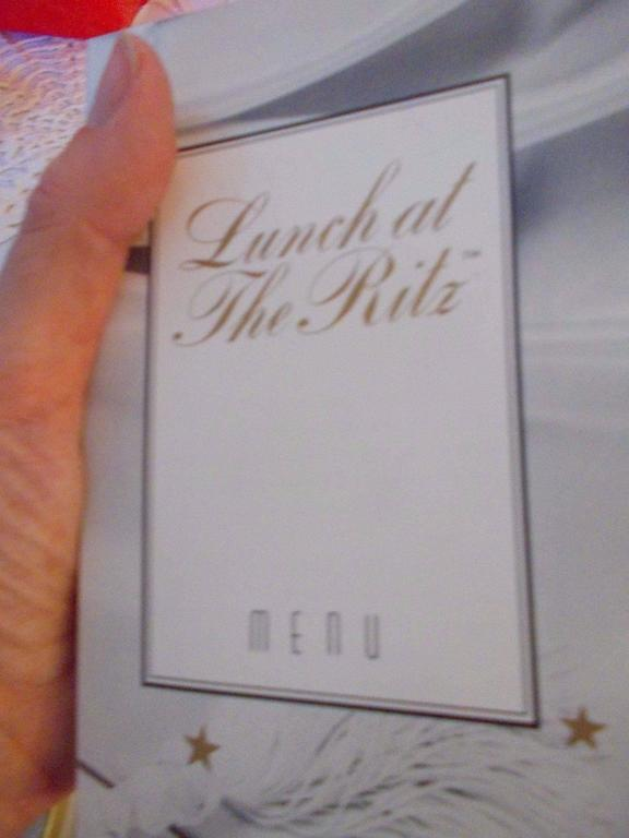 "Rare Lunch At The Ritz ""Hello, How Are You"" Earrings On Original Menu Card