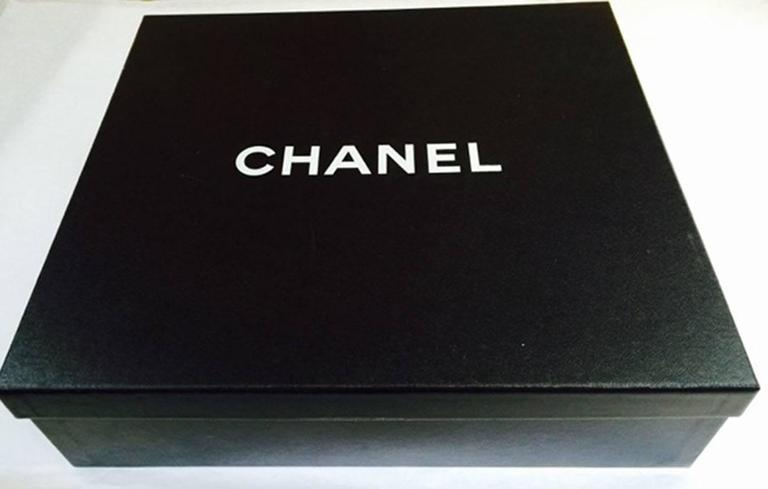 Chanel Round Black Logo Quilted Top Handle Leather Handbag  For Sale 5