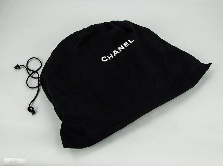 Chanel Round Black Logo Quilted Top Handle Leather Handbag  For Sale 4