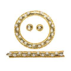 Bergdorf Goodman Vintage One of a Kind Glamorous Necklace Bracelet Earclips