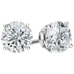 D Color 12 Carat Each Faux Diamond Cubic Zirconia Studs