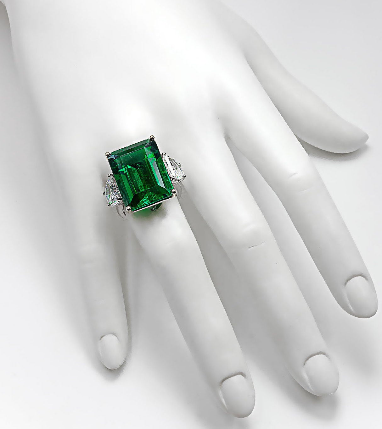 Magnificent Large Faux Colombian Color 25 Carat Emerald