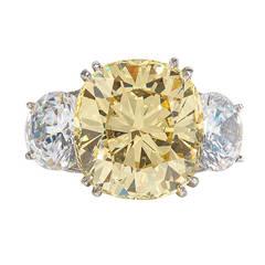 Faux Champagne Cushion Cut Diamond Ring