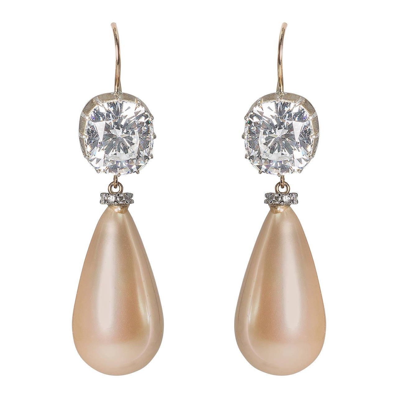 The Faux Magnificent Empress Eugénie Pearl Earrings For Sale