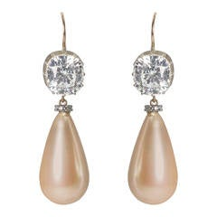 The Faux Magnificent Empress Eugénie Pearl Earrings