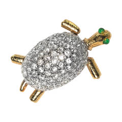 Charming Pave Turtle Scatter Pin