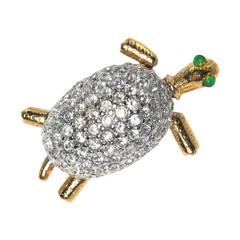 Charmanter Pave Schildkröten Scatter Anstecker
