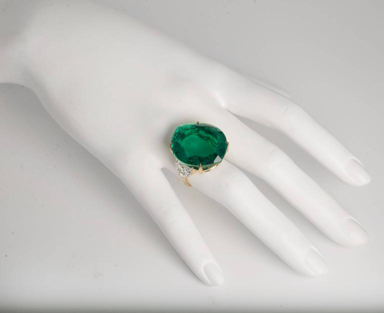 Maharajah Jewel Collection Stylish Faux Emerald Diamond Ring 3