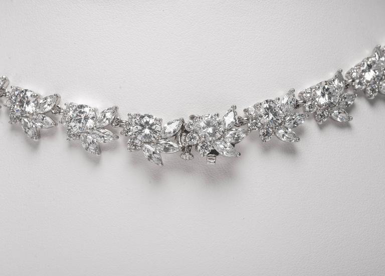 Magnificent Faux Diamond Sapphire Emerald Ruby Drop Necklace 2