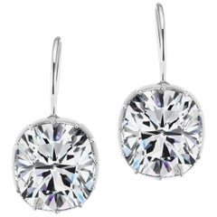 Antique Style Cushion Cubic Zirconia Sterling Earrings