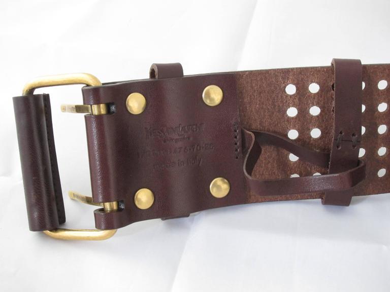 yves laurent vintage leather belt size 70 at 1stdibs