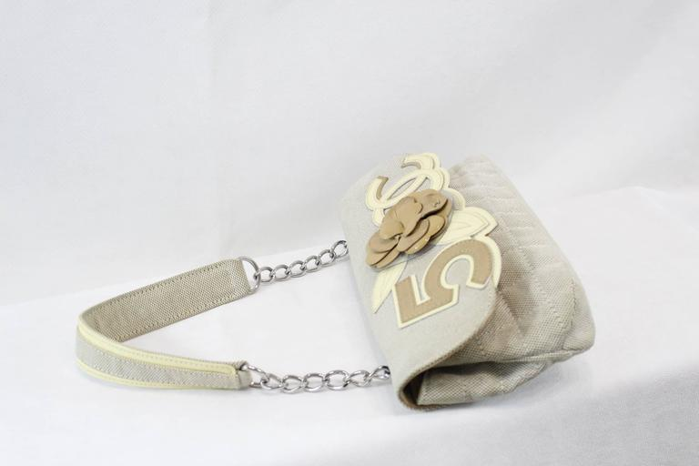 Chanel Canvas and Leather Camelia Nr 5 Bag 2