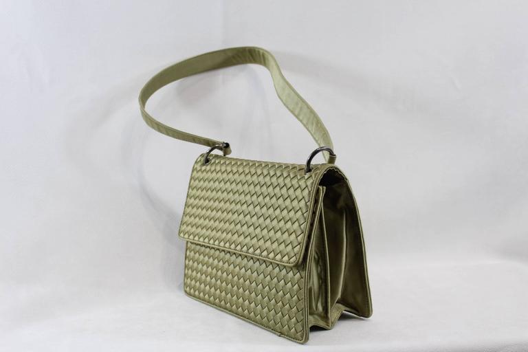 Bottega Veneta Intrecciato Silk Shoulder Bag 3