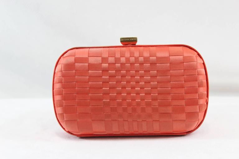Women's Vintage Corail Bottega Veneta Clutch with Crystal For Sale