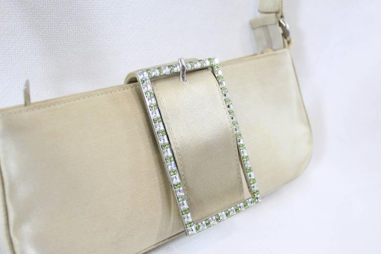 Jimmy Choo small Weeding Bag with Swarovsky Crystals In Fair Condition For Sale In Paris, FR