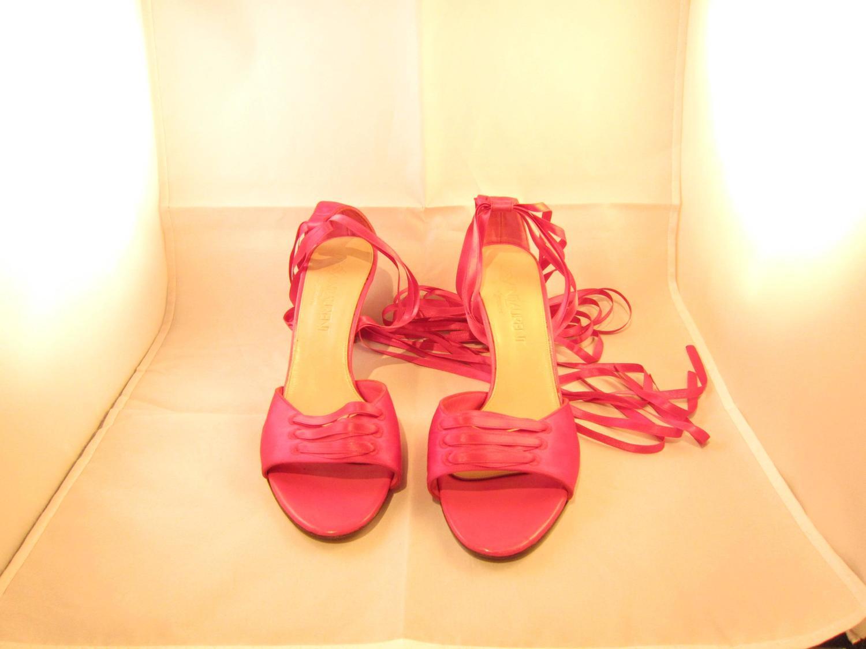 yves laurent pink silk ballet inspiration shoes for
