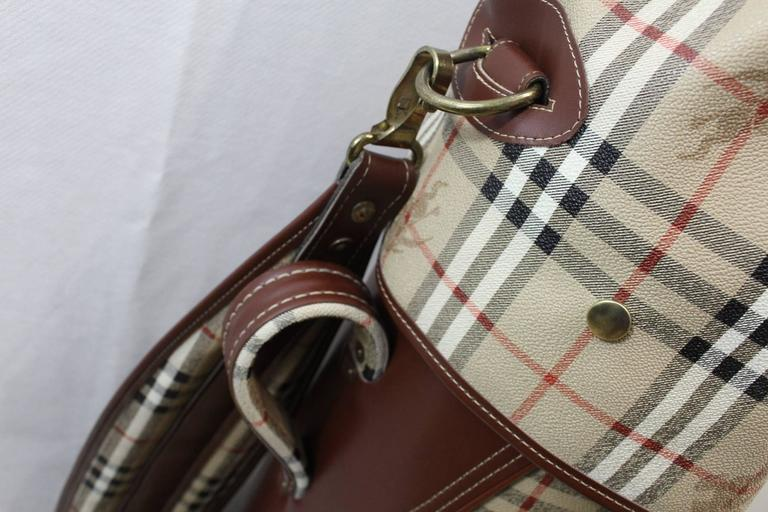 Vintage Burberry Check Pattern Golf Bag In Good Condition For Paris Fr