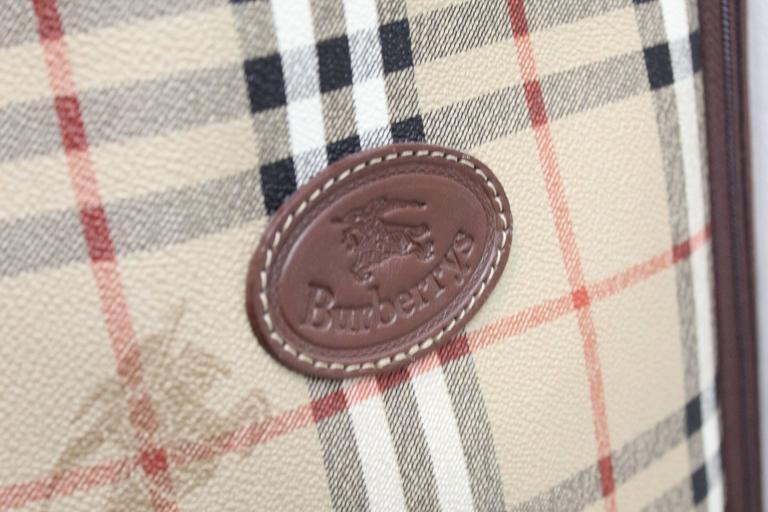 Black Vintage Burberry Check Pattern Golf Bag For