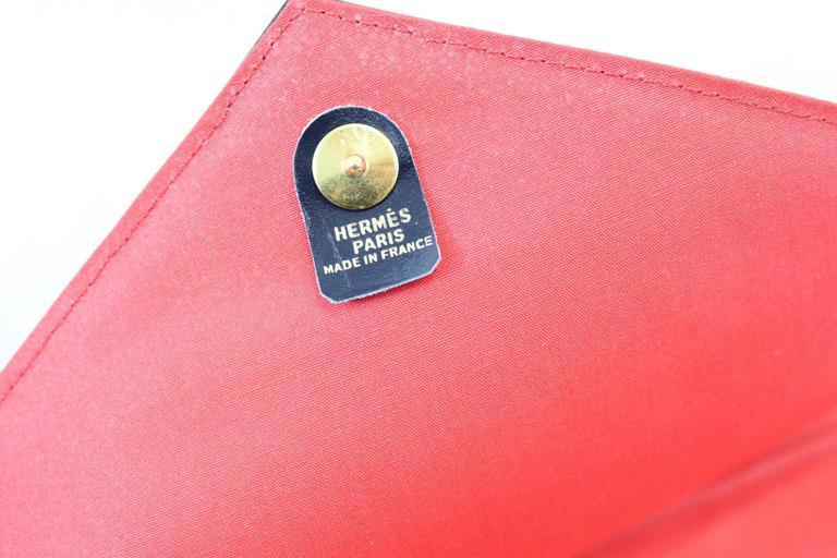 Vintage Hermès Red Evening Clutch For Sale 1