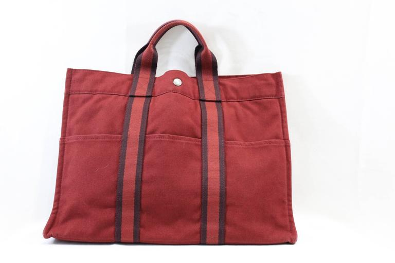 "Hermes Canvas Toto Bag GM 16,5x12,5"" 2"