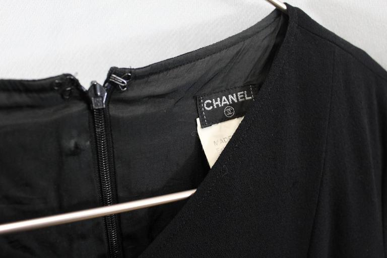 Chanel Little Black Dress. Size 38 For Sale 1