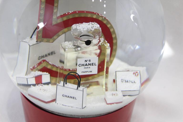 Gray Collectible Chanel Christmas Snowballl Dome from Chanel N°5. For Sale