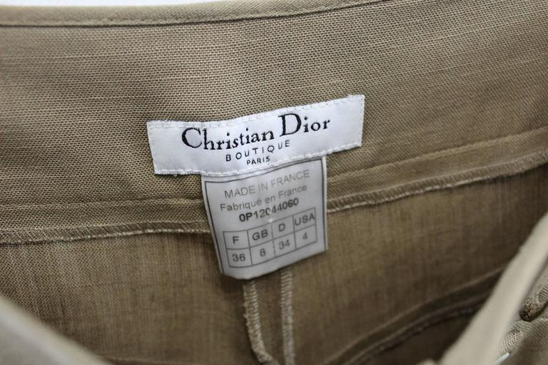 Really nice Dior Boutique Trouser in brown lin.