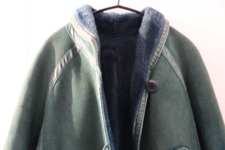 Christian Dior Vintage Green Leather Coat 3