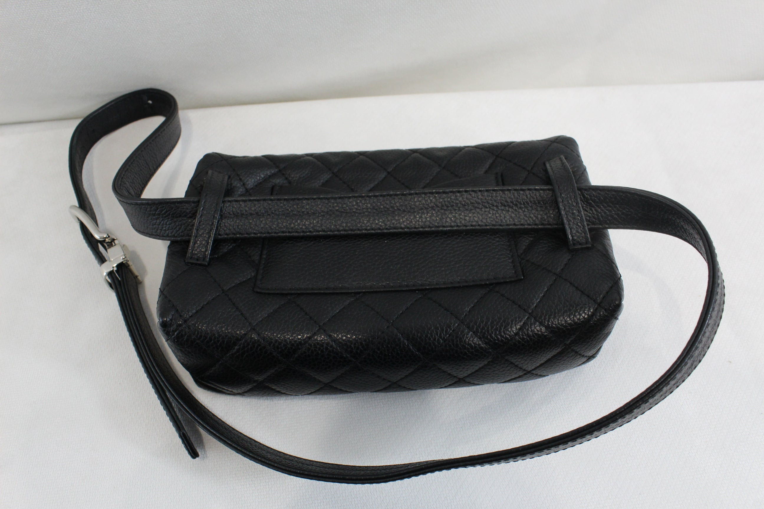 6a20e7ccfcdb61 Chanel Uniform Belt Bag in Black Caviar Leather at 1stdibs
