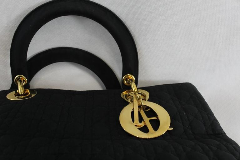 Vintage Nylon Lady Dior Tote Bag For Sale 1